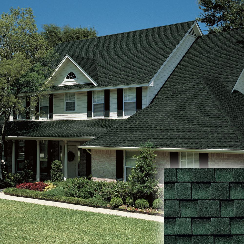 Hunter Green roof and shingle color