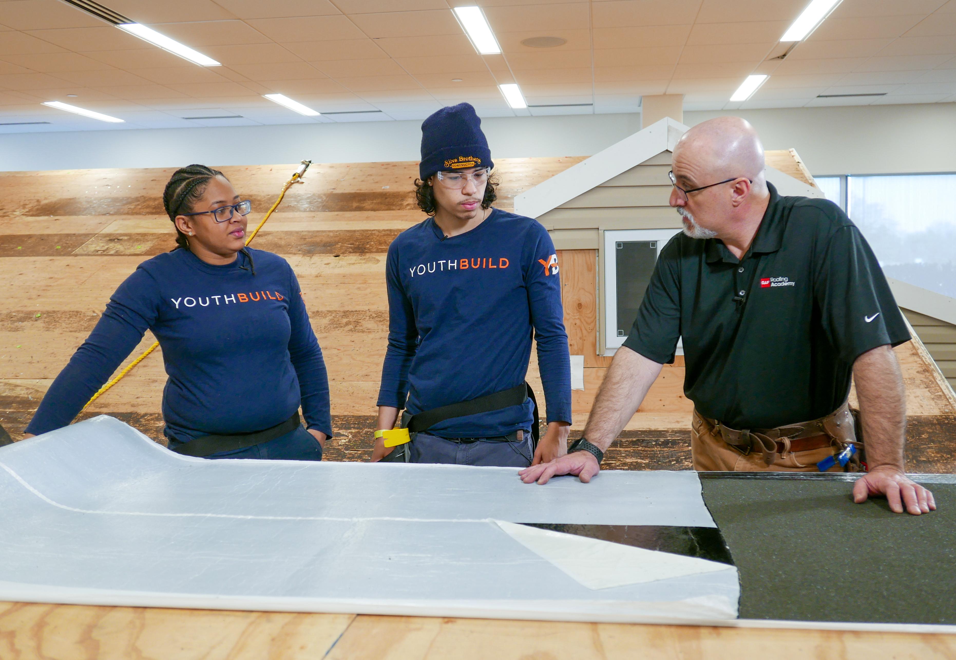 Jones and Rivera Cruz at GAF's Roofing Academy
