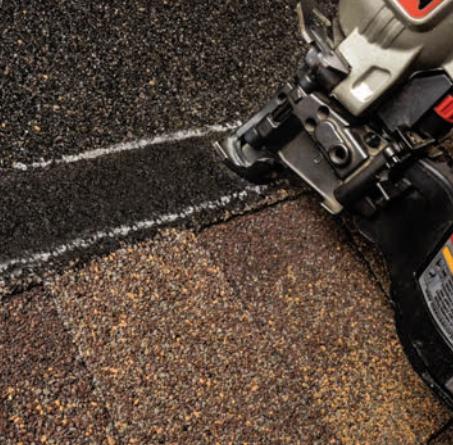 Timberline HDZ asphalt shingles showing increased StrikeZone nailing area