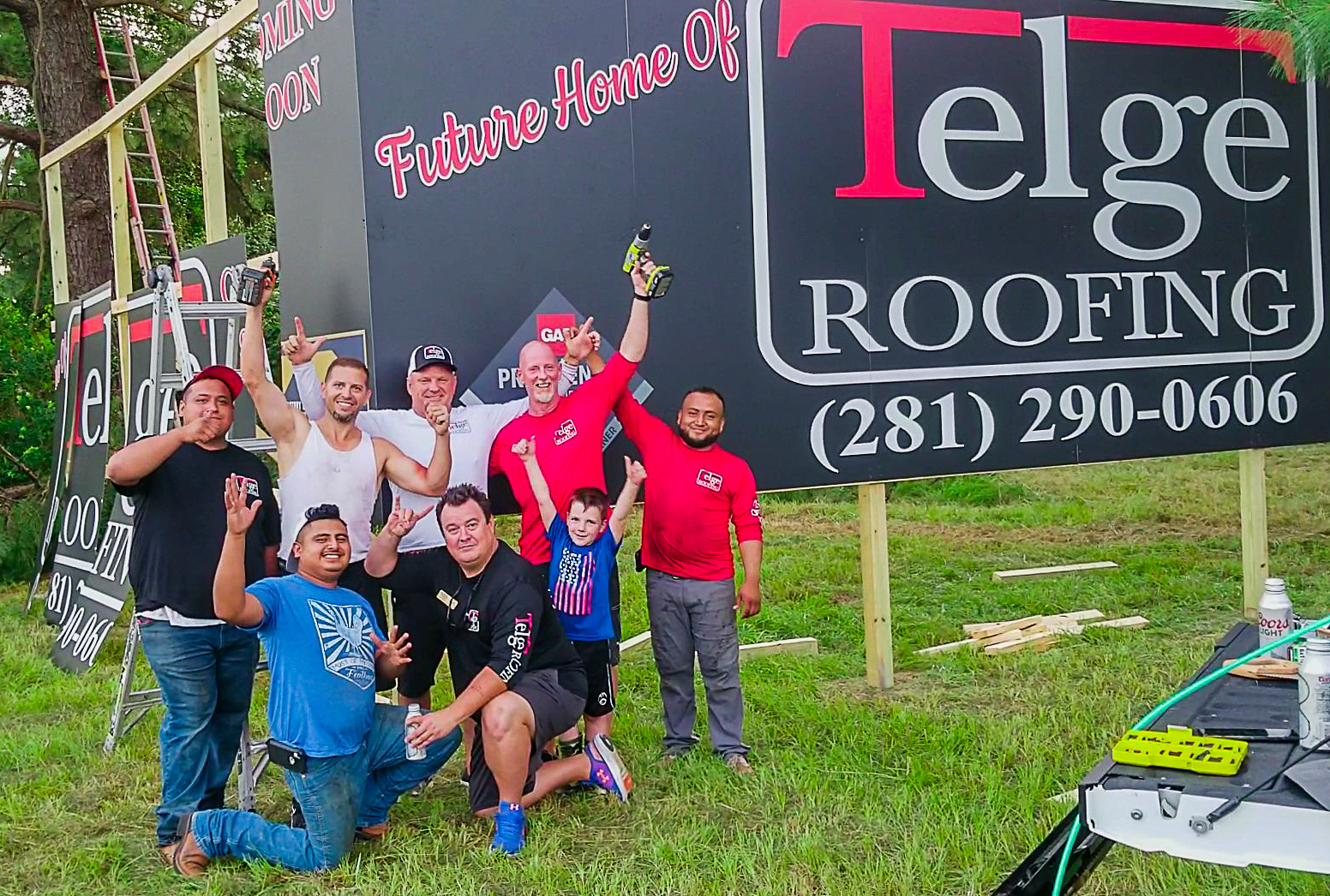 The future home of Telge Roofing, Cypress, TX