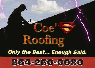 Coe's Roofing of Anerson LLC