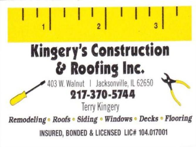 Kingery's Construction & Roofing Inc
