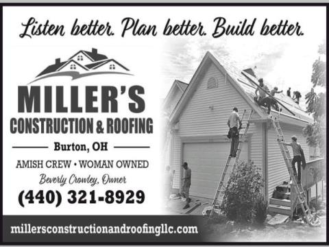 Miller's Construction and Roofing LLC