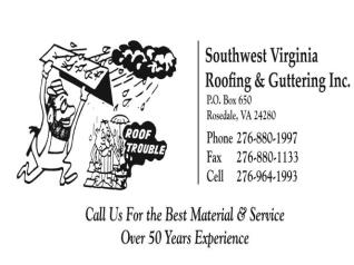 Southwest Virginia Roofing & Guttering